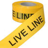 Electrical hazard barrier tape