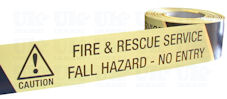 FIRE & RESCUE - FALL HAZARD NO ENTRY barrier tape