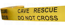 CAVE RESCUE DO NOT CROSS barrier tape